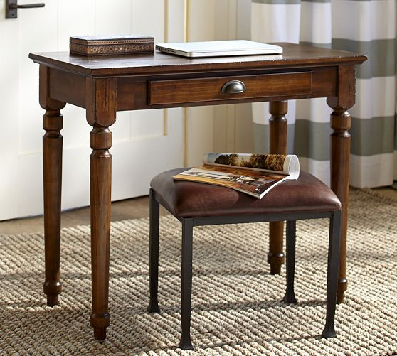 Small Desk Idea For Den Printer S Writing Pottery Barn
