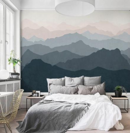 waterverf behang - schilderijen | Pinterest - Slaapkamer ...