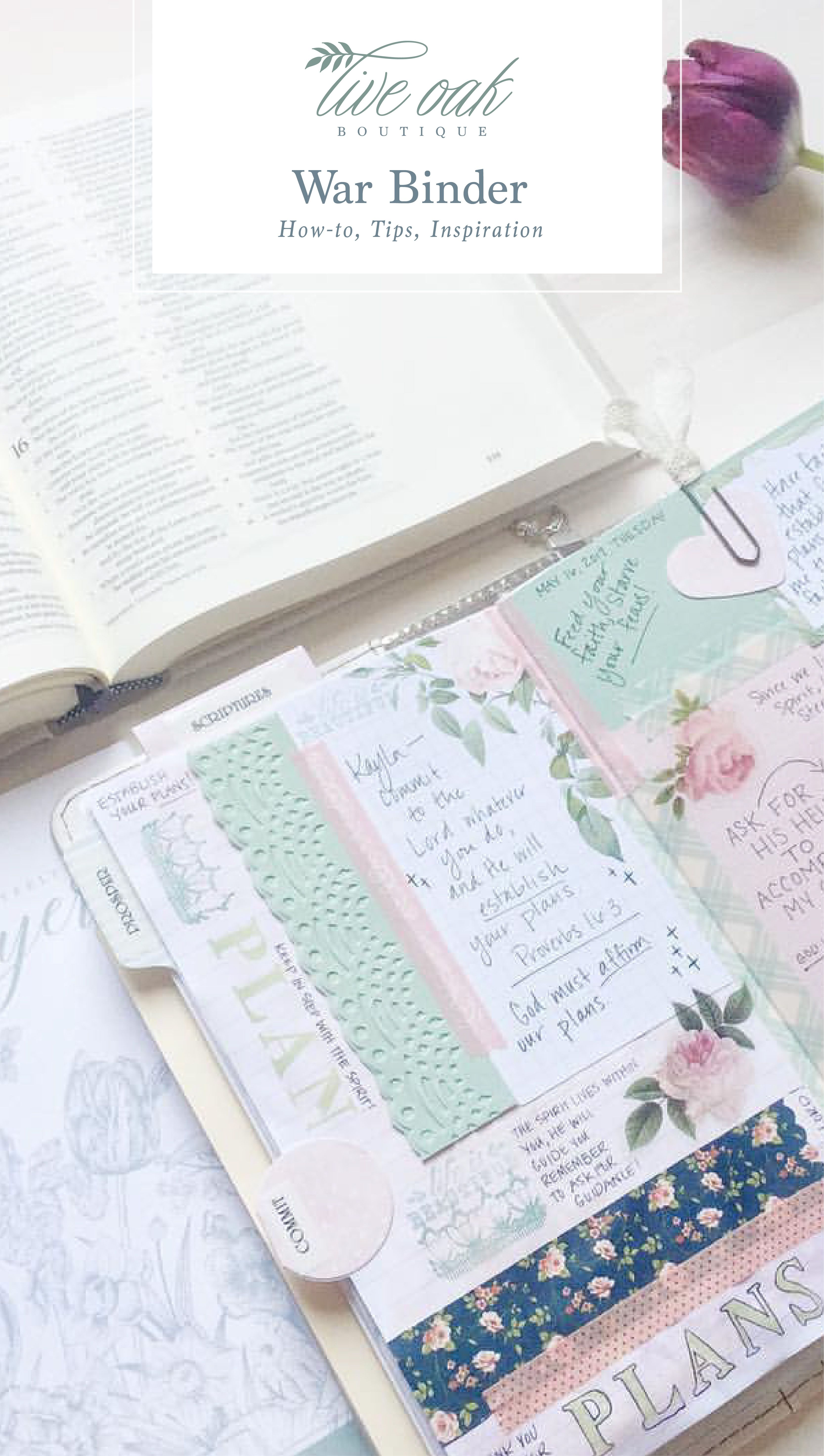 Want To Learn How To Create A War Binder Faith Journal