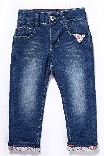 4Rodeo Western Oval Buckle Jeans for Infant Baby Toddler