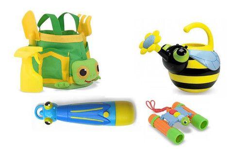 Set de jardínería y exploración para niños, compuesto por la bolsa ...