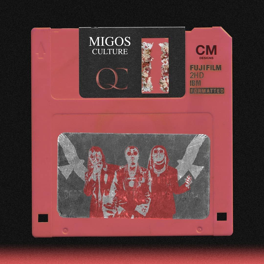 ReImagined Migos's Culture 2 fover as a floppy disk