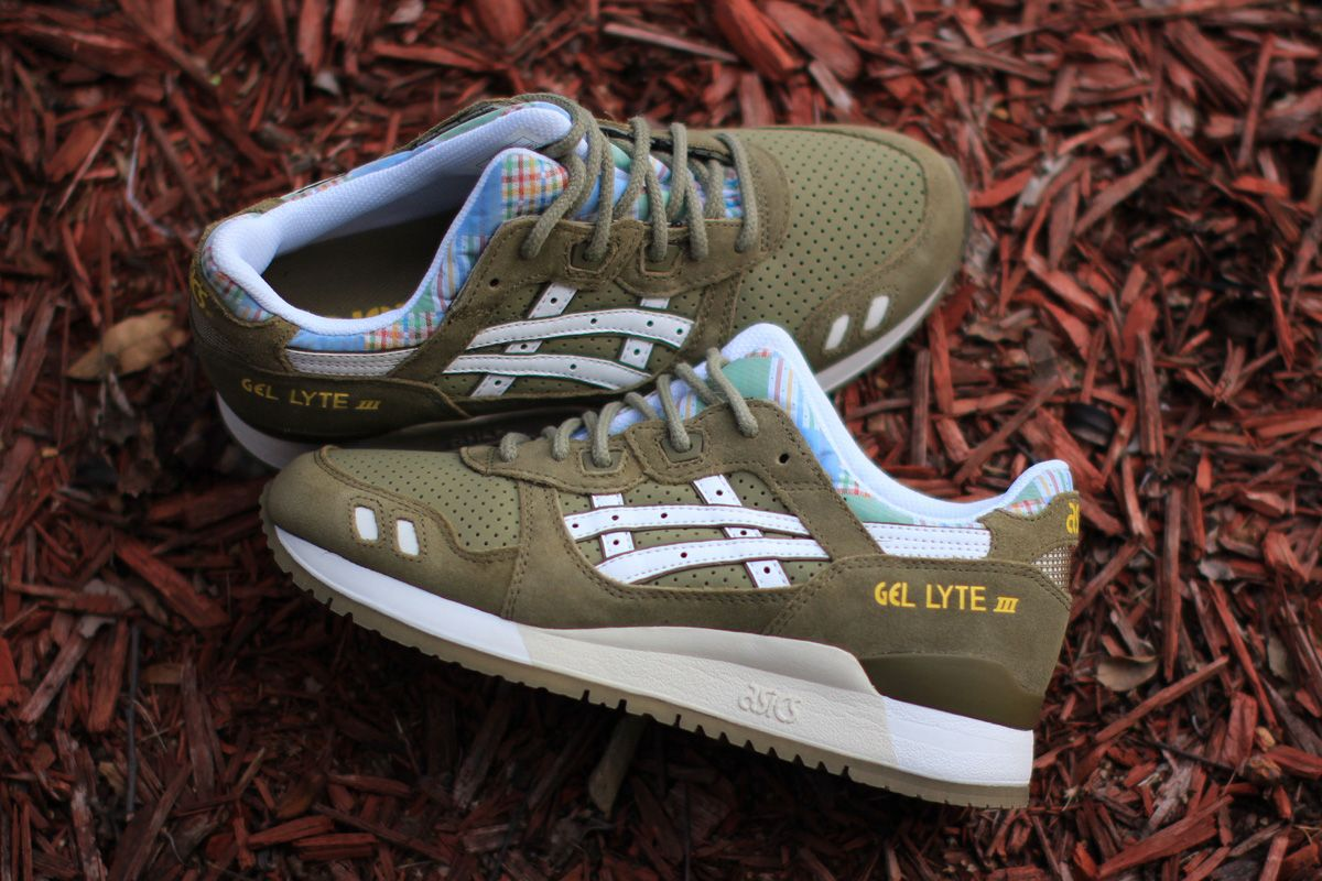 asics sneakers olive