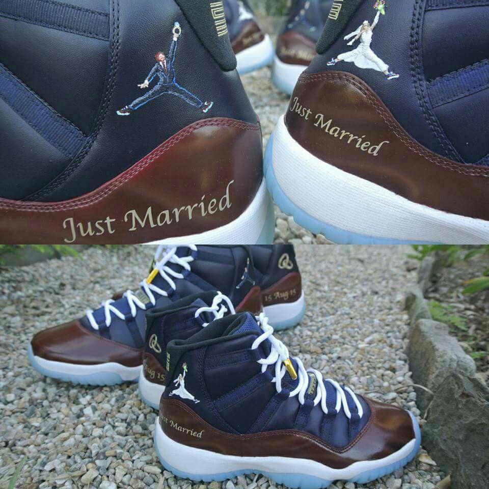 32b16bf6fd5234 Custom made sneakers for wedding