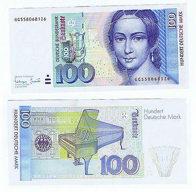 Echter Geldschein 100 DM Einhundert Deutsche Mark
