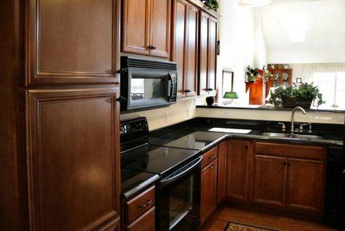 Best Restaining Kitchen Cabinets Black Appliances
