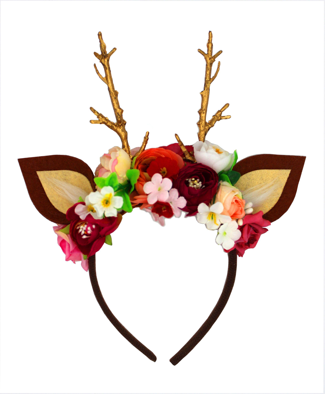 Bambi Reh Haarreif Geweih Accessoire Kostüm Karneval Fasching für Damen