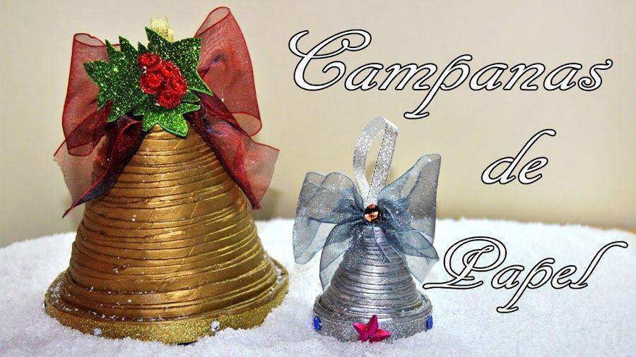 Campana DIY reciclando papel peridico Pensando ya en la Navidad