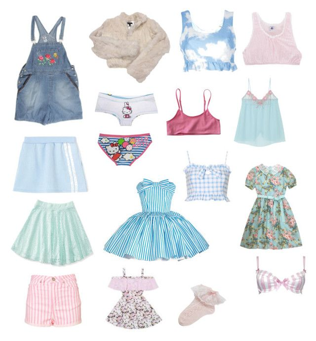 """""""Dolly dream closet"""" by dead-head-dolly ❤ liked on Polyvore featuring Bebe, Hello Kitty, Aéropostale, Jack Wills, VIVETTA, Petit Bateau and Alexis Smith"""