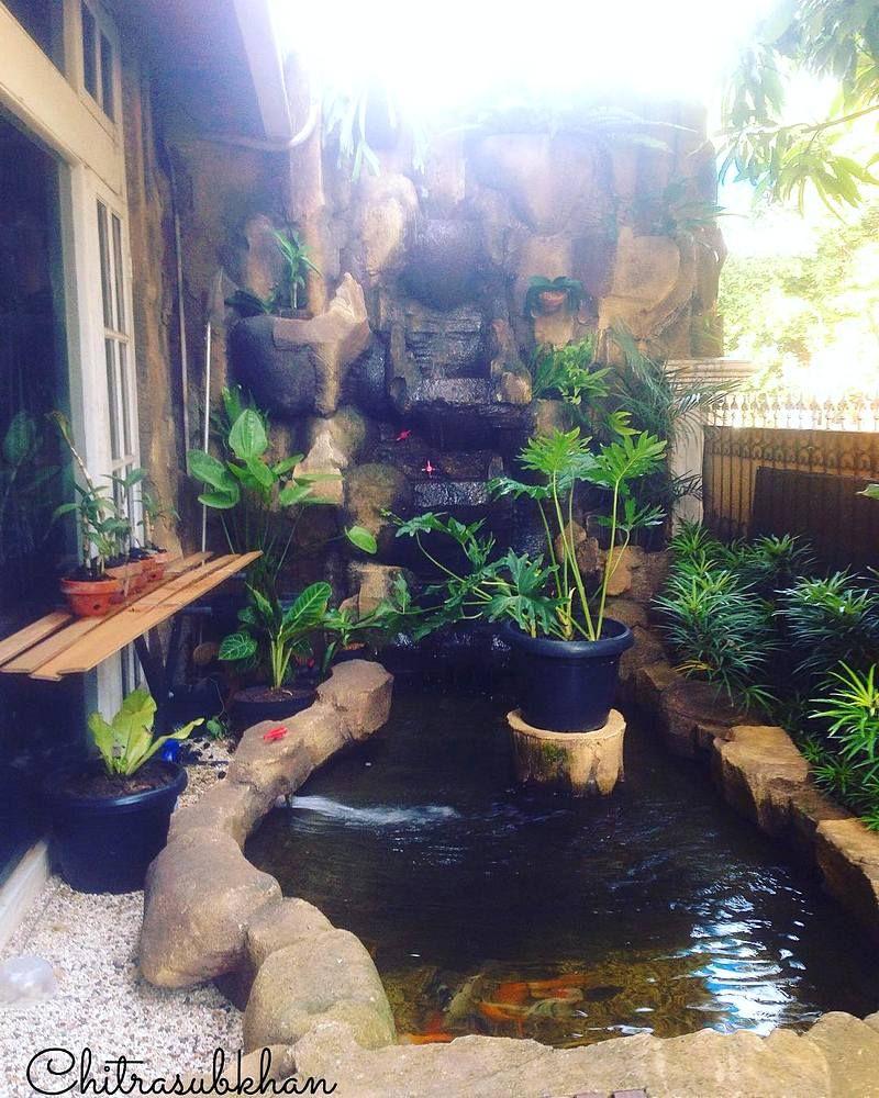 Desain Kolam Ikan Dengan Batu Alam | Kolam ikan, Kolam ...