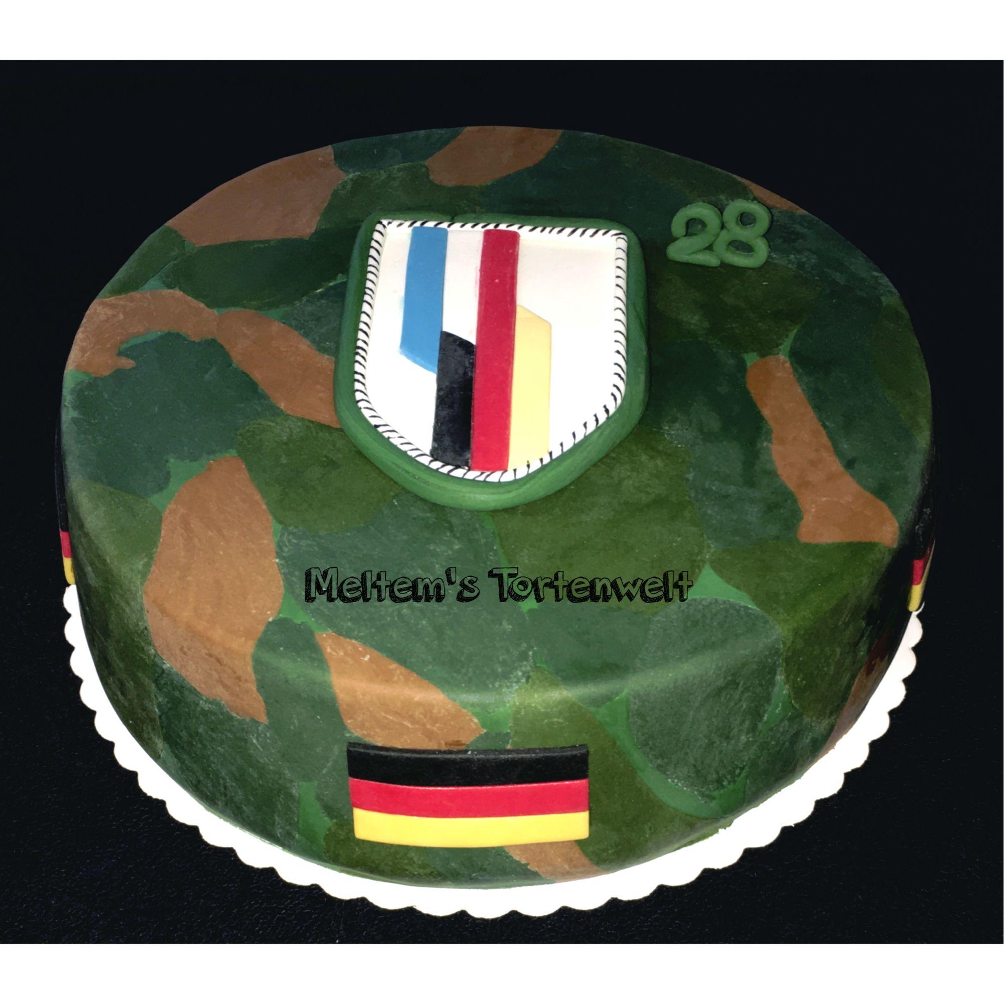 Bundeswehr Torte Bundeswehr Manner Kuchen Flecktarn