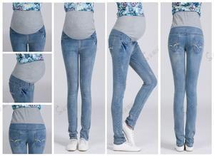 999cad1959687 Elastic Waist 100% Cotton Pregnancy Jeans | Pregnancy Products + ...