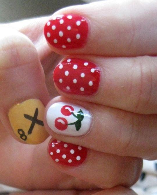 cherry. Fall Nail ArtFall ... - Cherry Nails Pinterest Cherries And Makeup