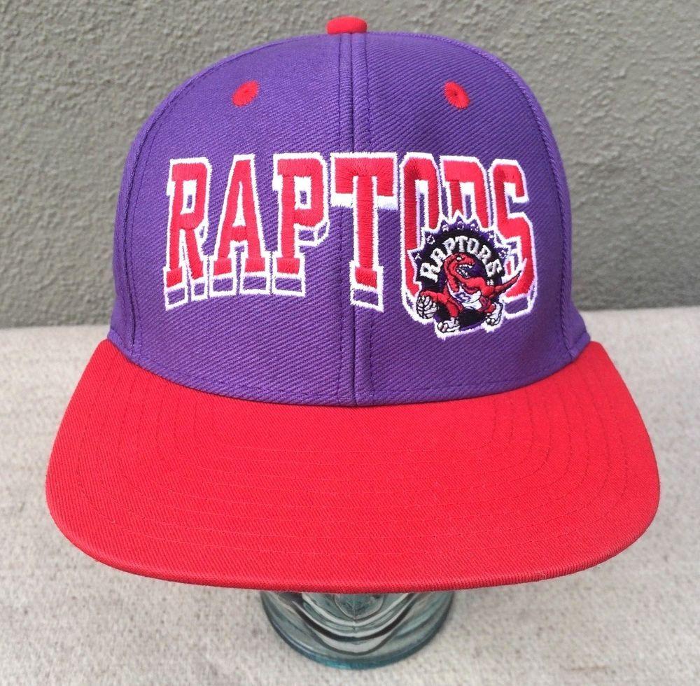 aeb89a973 TISA Vintage Toronto Raptors Adidas Snapback Cap Hat Purple NBA ...