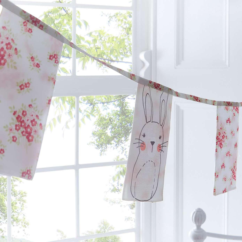 Kids Bedroom Bunting kids katy rabbit bunting | dunelm | home | cute girl's rooms