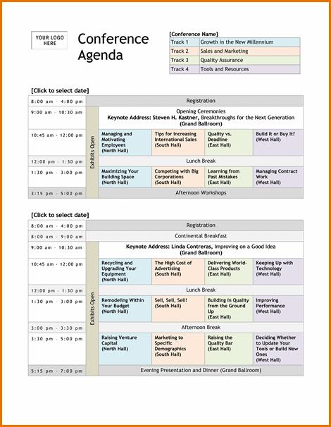Conference Agenda Template 9 10 Conference Agenda Template Agenda Template Conference Agenda Meeting Agenda Template