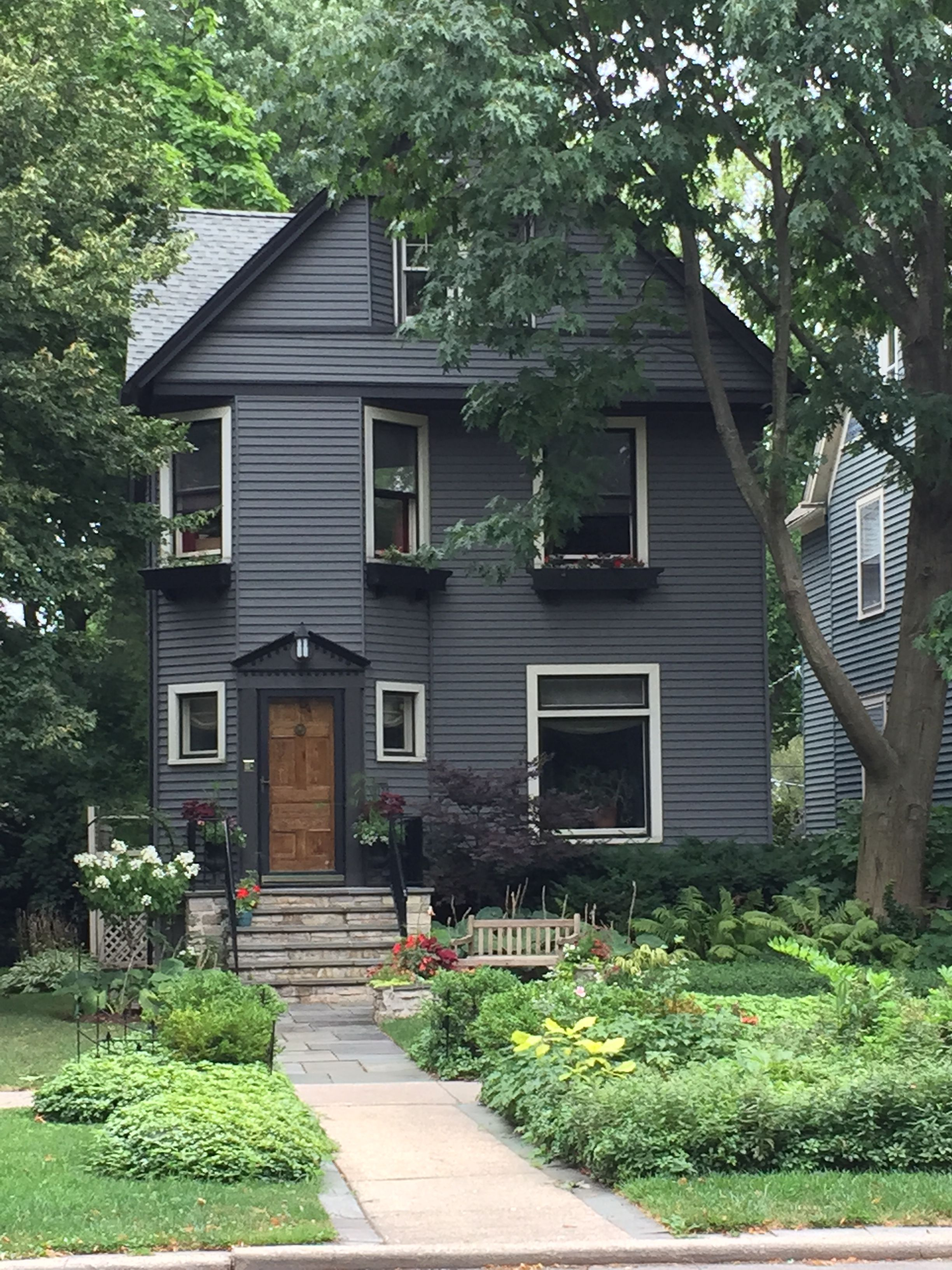 Beautiful Exterior House Colors Design: Sherman Ave-beautiful Paint And Landscaping