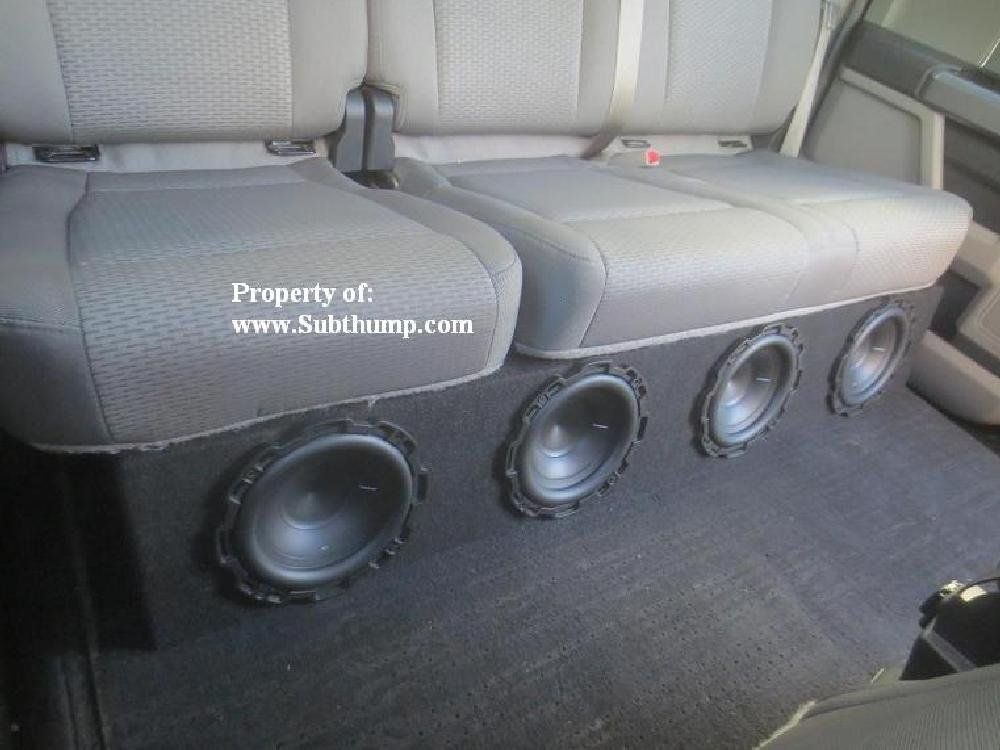 2009 2014 F150 Supcrew Quad 8 Front Fire Subwoofer Box Fits 2009 2014 Ford F150 Supcrew Trucks Holds Four 8 Su Subwoofer Box Design Subwoofer Box Subwoofer