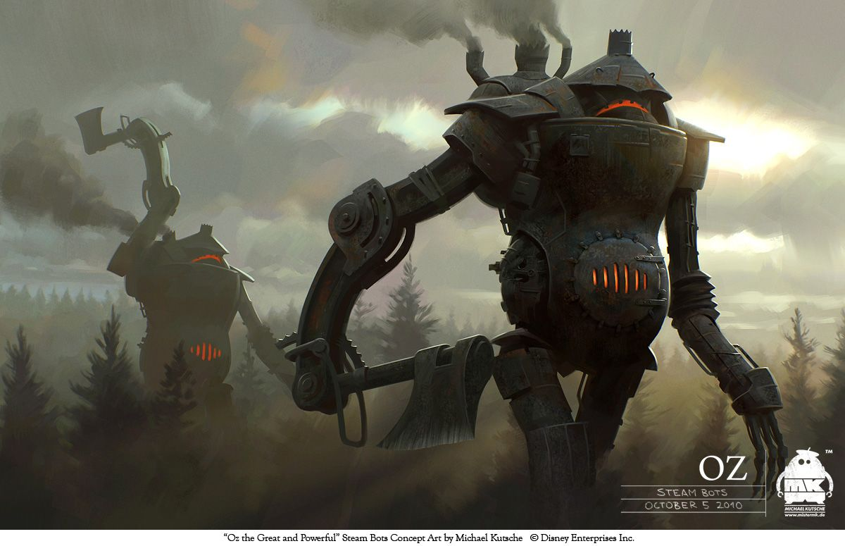 http://bit.ly/1PFFtda by Michael Kutsche: Costume and character design for Sam Raimis Oz the Great and Powerful #digitalart #robot #creature #oz #fantasy #tale #steampunk