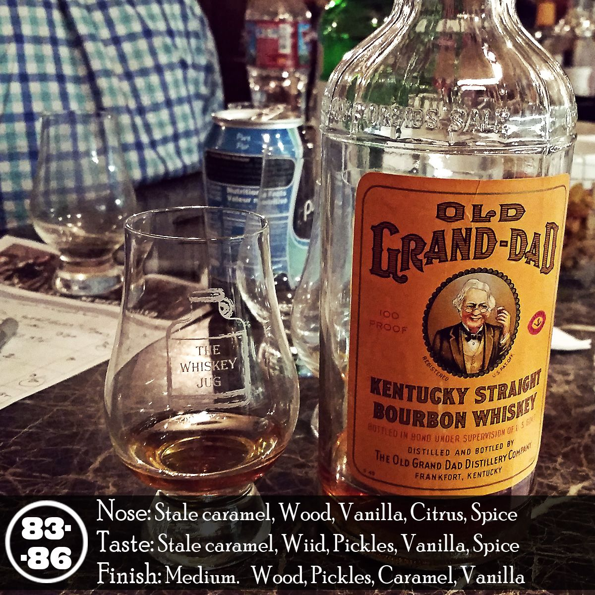Old Grand-Dad Bottled In Bond 1949 is an experience. It's something that was made at a distillery that no longer exists by a company that has also ceased to exist. It's an echo of bourbon's past and that brings with it a certain level of respect when consuming it. Despite the fact that it wasn't a killer bourbon experience there's still something grin-inducing about drinking a whiskey that's been on this planet 2x longer than I have.