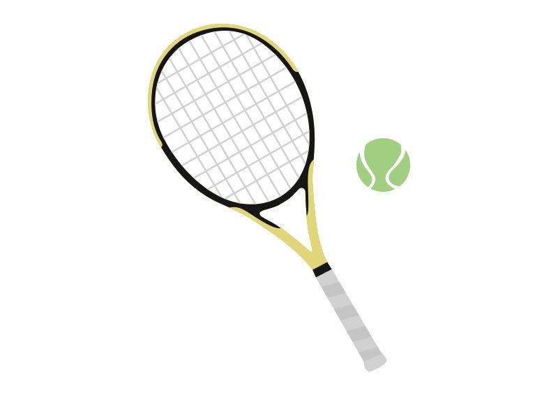 Tennis Racket And Ball Free Vector Tennis Racket Vector Free Rackets
