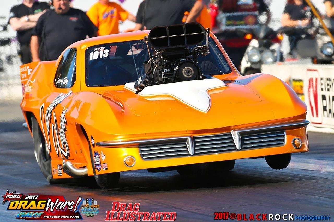 Jeremy Ray Pro Mod Chevy Corvette Carolina Kingpin Blown