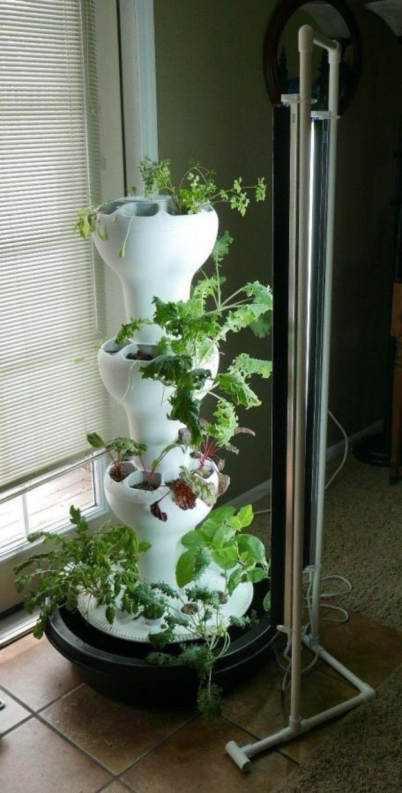 Grow Light System Provides Optimum Growing Light Grow Lights Vertical Garden Tower Garden