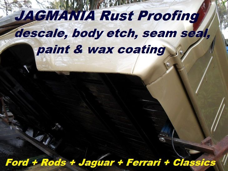 Auto Chassis Body Rust Proofing For Classics Hot Rods Ford Gm Jaguar Ferrari All Makes Underbody Descale Etch Rodder Descale