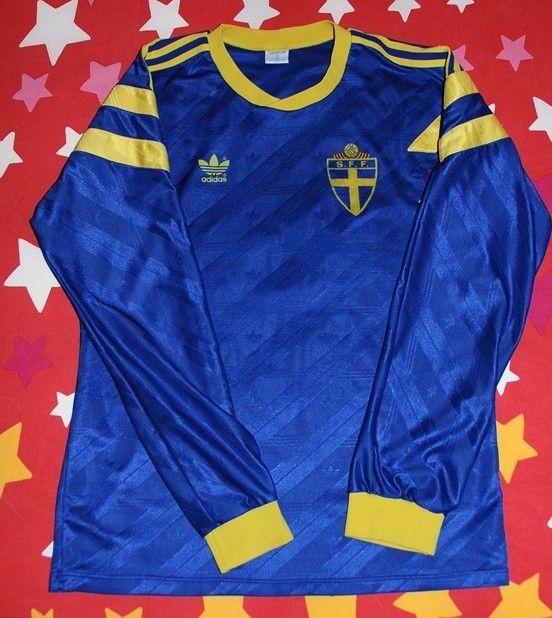 Sweden Football Shirt 1990 Football Team Football Football