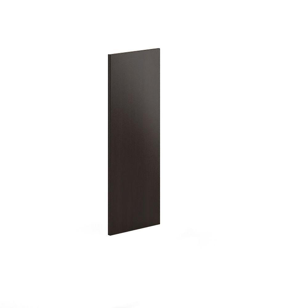 13x33x0 75 In Finishing End Panel In Dark Brown Melamine Dark Brown Wood Eurostyle Brown Wood Veneers