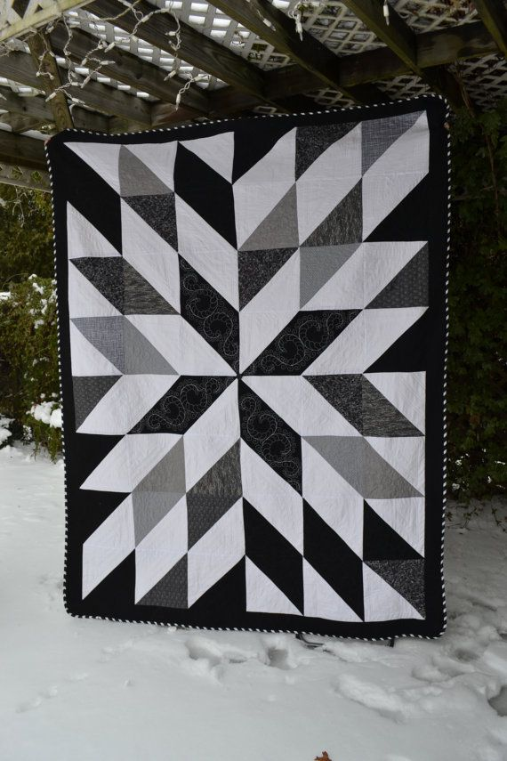Modern Quilt Hipster Bold Black And White Graphic