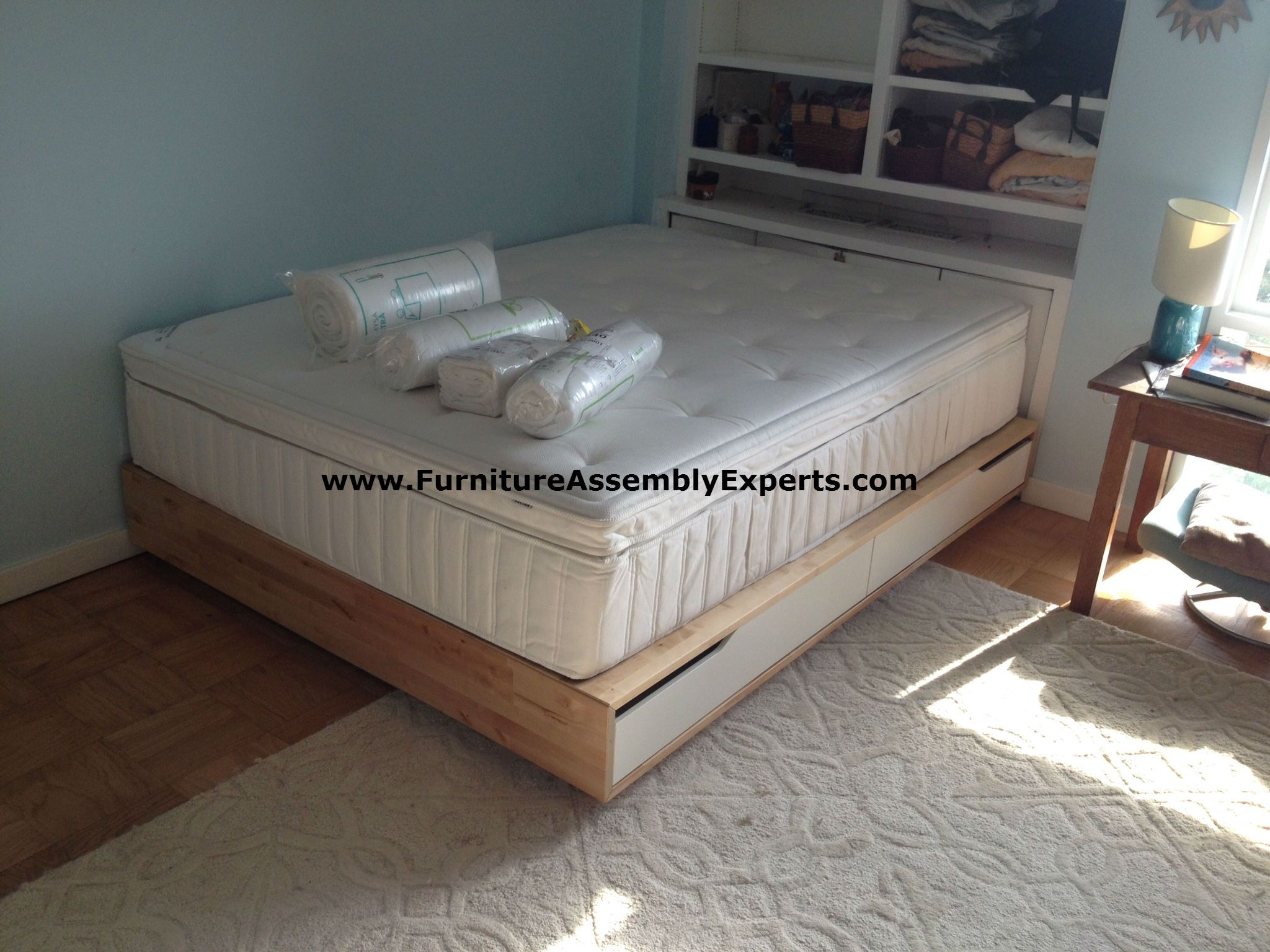 Ikea Manda Storage Bed Assembled At Hodge On 7th St Apartments In  Washington DC By Furniture