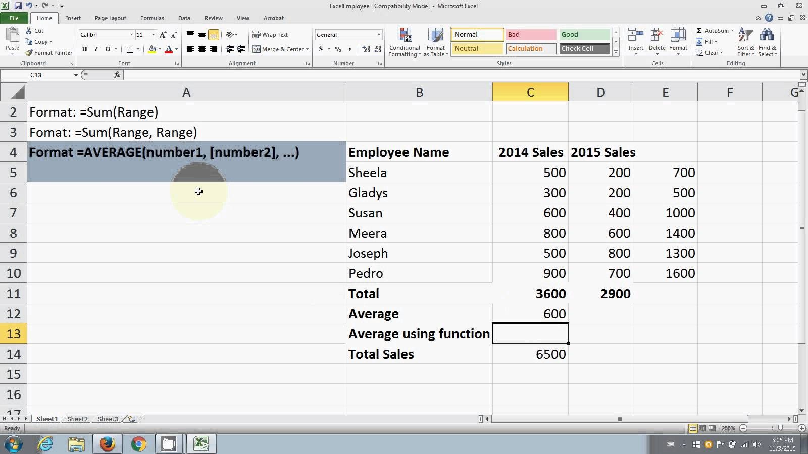 How To Use Sum And Average In Excel Excel Number Value Sum How do you subtract in excel spreadsheet
