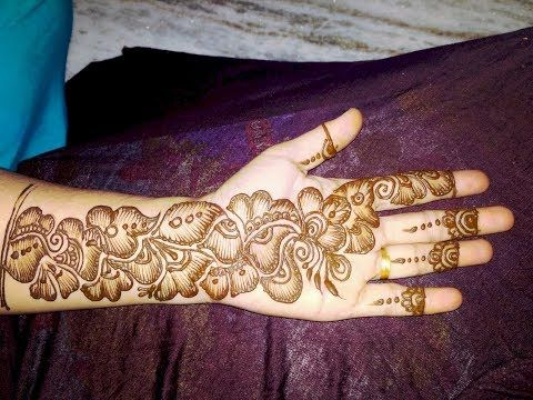 New heavy and stylish indo arabic mehndi design for front side hand llby henna designs youtube also rh pinterest