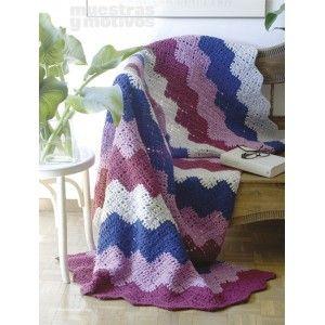 EMANTAS0213: Manta para tejer a crochet. Medidas: 122 x 192 cm, 2,20€. #muestrasymotivos #mantas #crochet