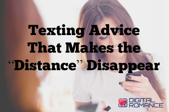 dating long distance texting