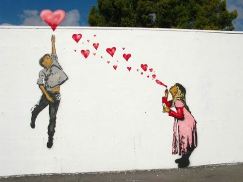 Reach out for love.