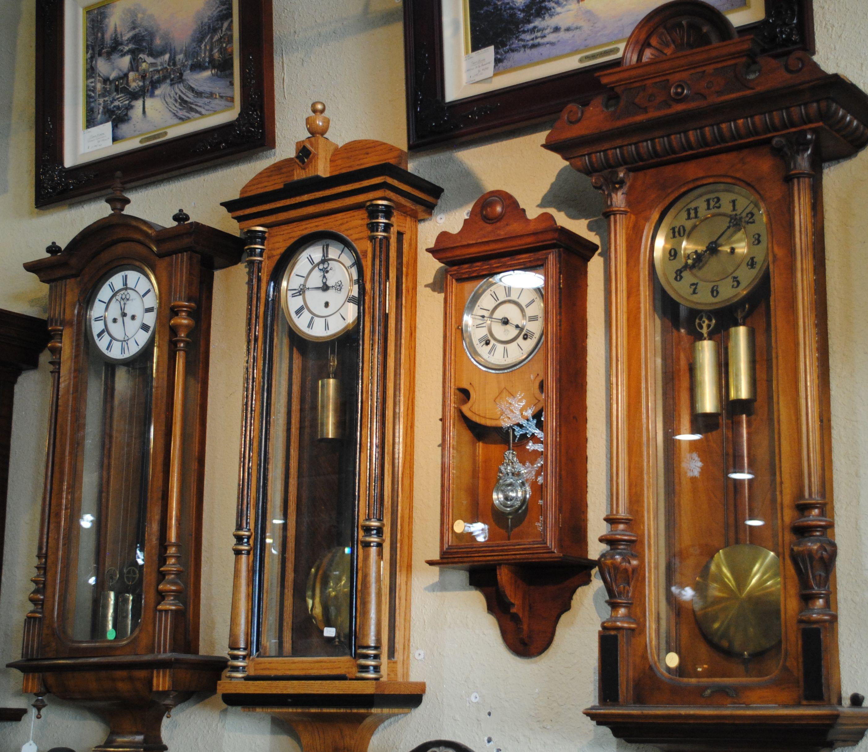 Assortment of vienna regulator wall clocks weight driven clocks assortment of vienna regulator wall clocks weight driven amipublicfo Images
