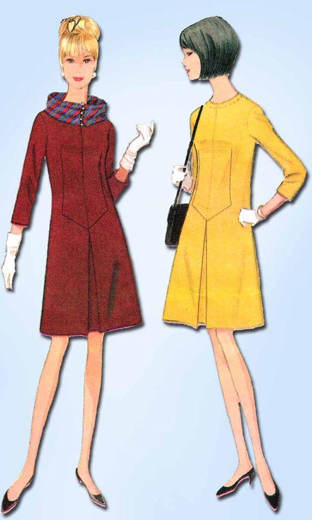 1960s Vintage McCalls Sewing Pattern 8404 Designer Mollie Parnis ...