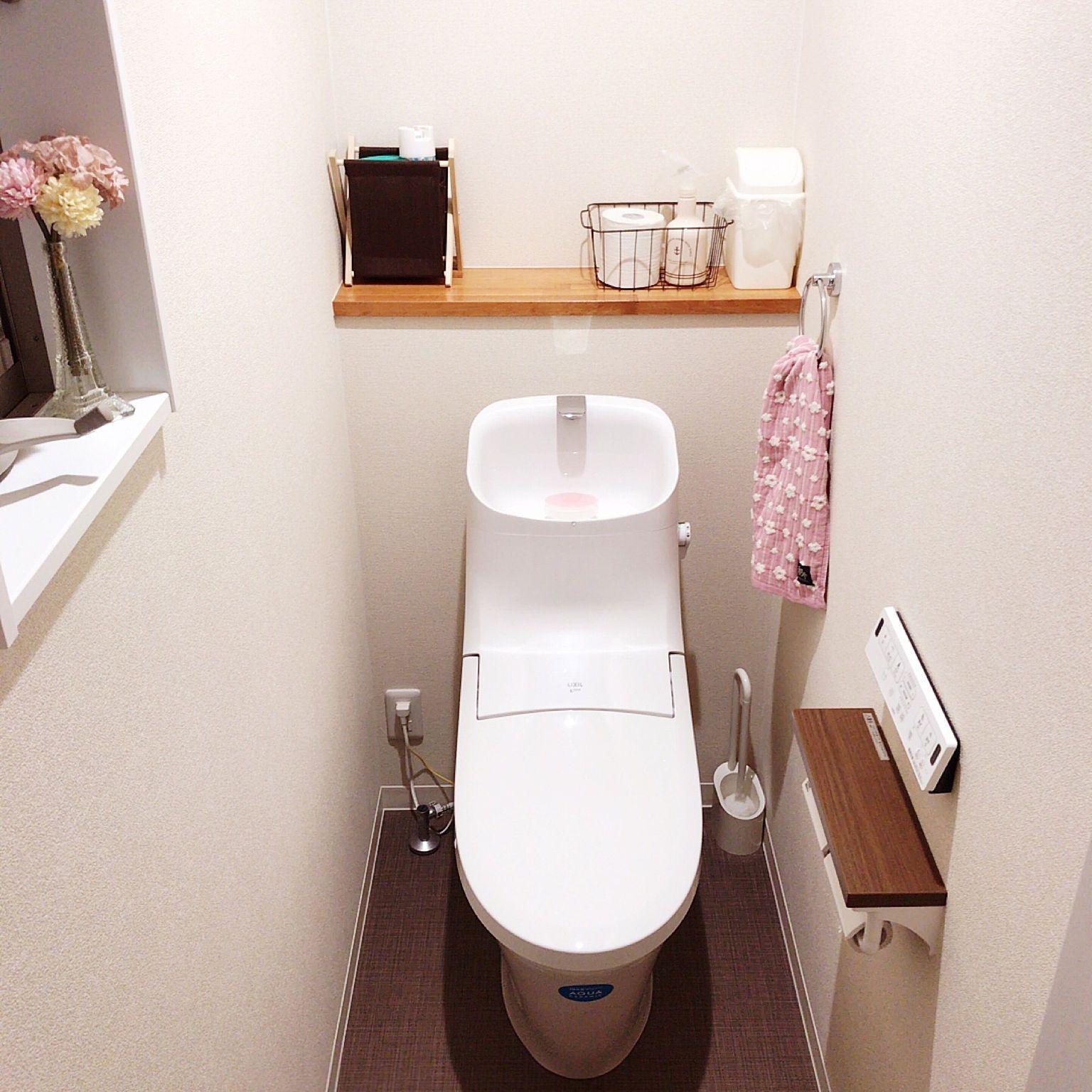 バス トイレ リクシルのトイレ 建具はクリエモカ 注文住宅のインテリア実例 2018 01 05 23 26 36 Roomclip ルームクリップ インテリア 実例 インテリア 建具
