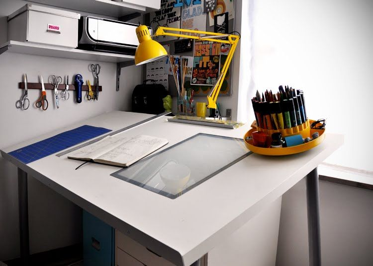 Make A Diy Drafting Table From An Ikea Desktop Diy Office Art