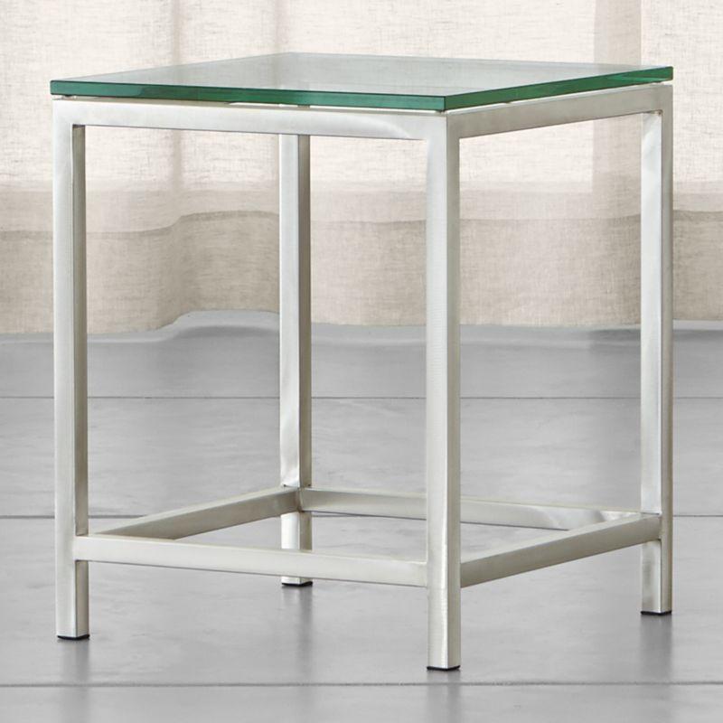 Shop Era Glass Side Table. A clear span of polished glass