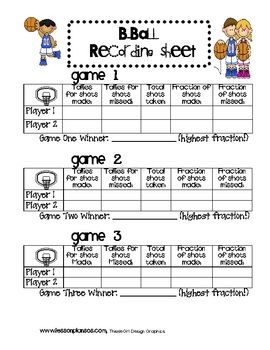 Fraction basketball lesson plan sos teachers - Game design lesson plans for teachers ...