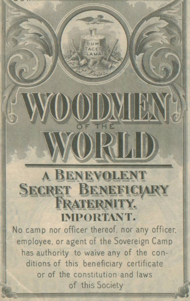 Woodmen Of The World And The Tree Stone Grave Markers Grave