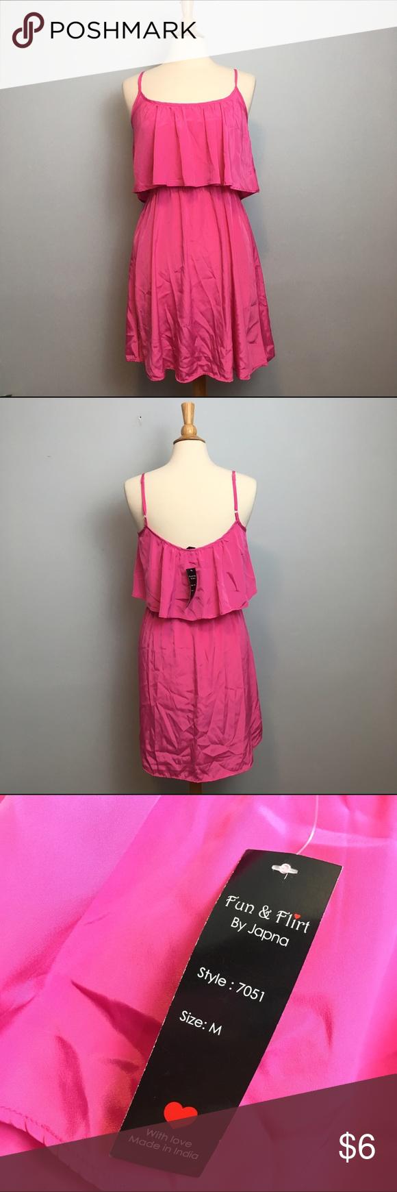 Hot pink color dress  Fun u Flirt Hot Pink Sundress  Flirting Hot pink and Minis