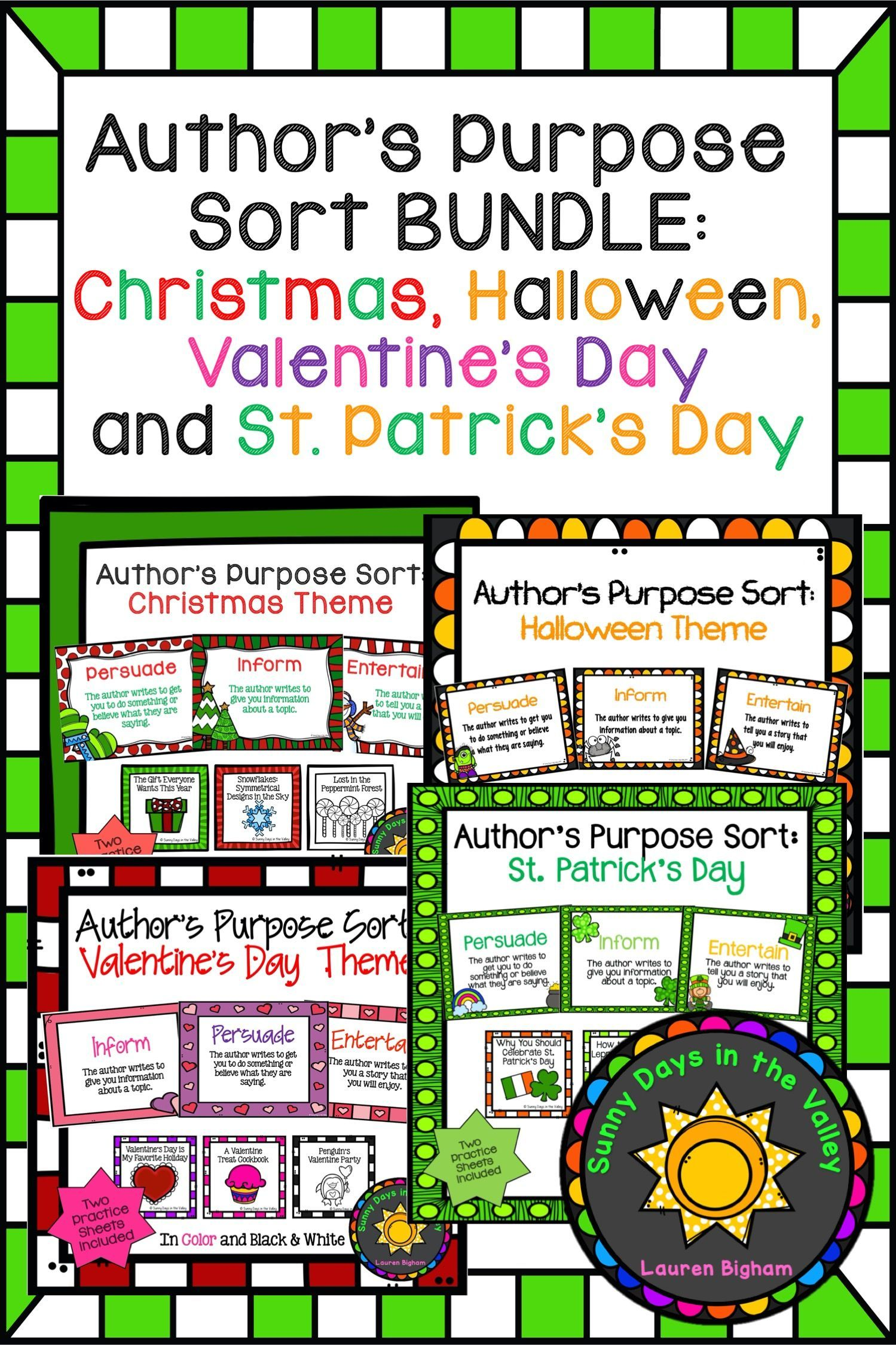 Author S Purpose Sort Bundle Holidays In