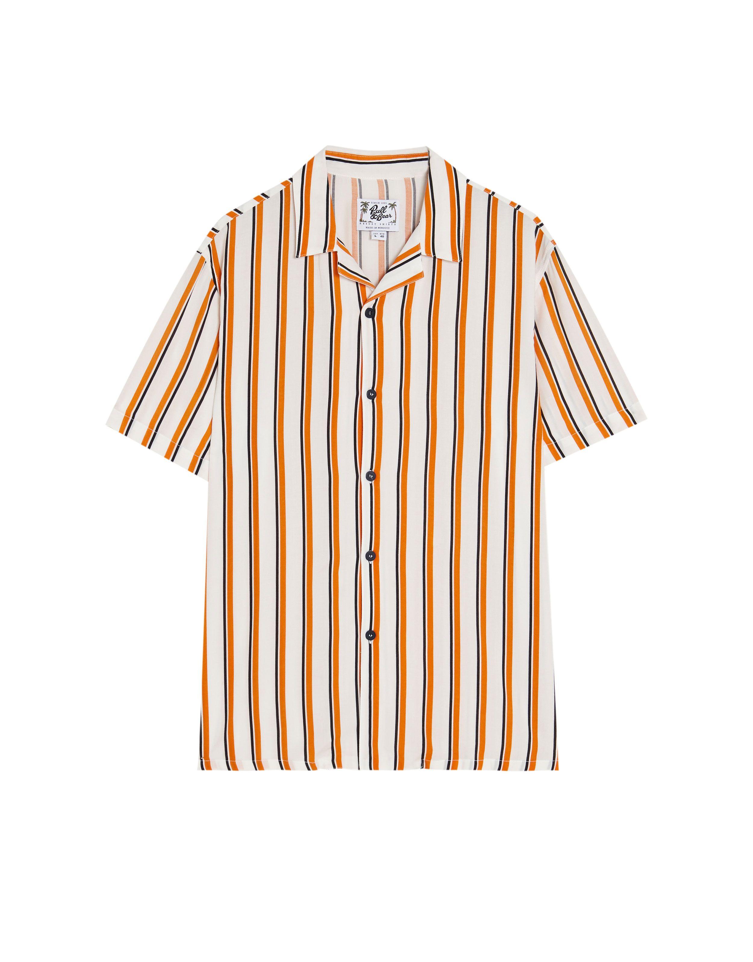 bien conocido como escoger estilo limitado Camisa manga corta rayas blancas - Camisas - Ropa - Hombre ...