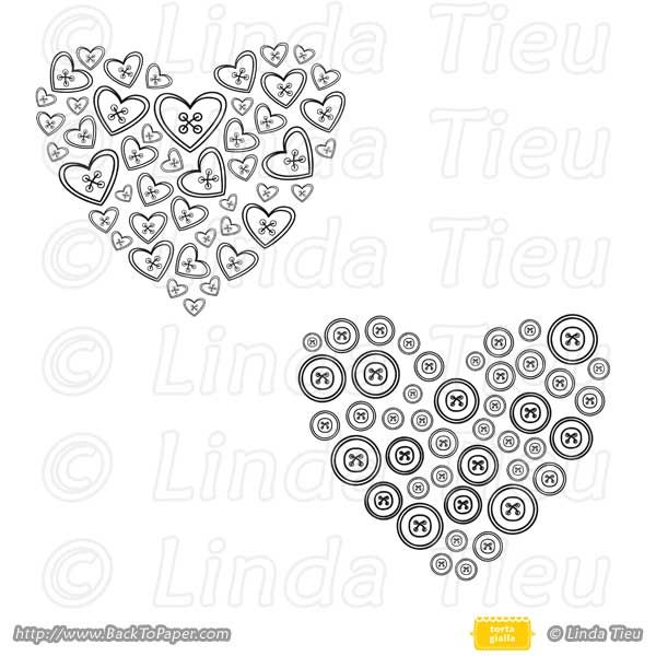 Heart Buttons  $1.00  Heart buttons are the cutest, with a version using heart shaped buttons and the other regular circle buttons. For your craft friends, a really fun digistamp to use!