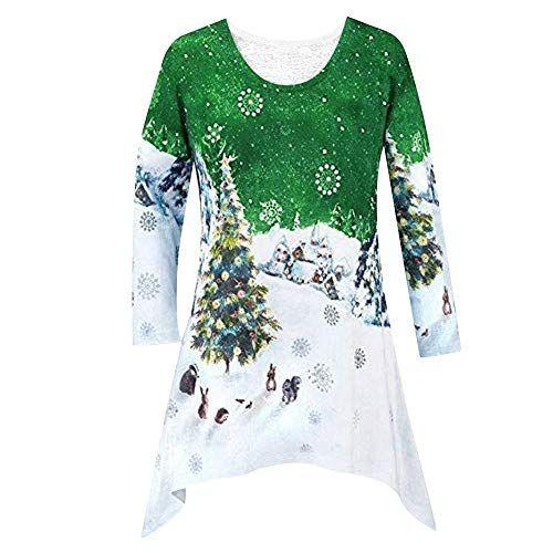Kanpola Weihnachten Kleid Damen Elegant Retro Weihnachtskleid