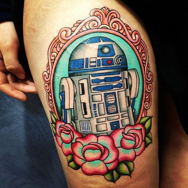 Repost from @merrytattoo. Beyond stoked with my first tattoo.  starwars tattoo starwarstattoo r2d2 droid artoo nerd… by codeedear - instaview.me